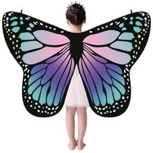 Children Girl Colorful Cloak Butterfly Cape Scarf Monarch Bu