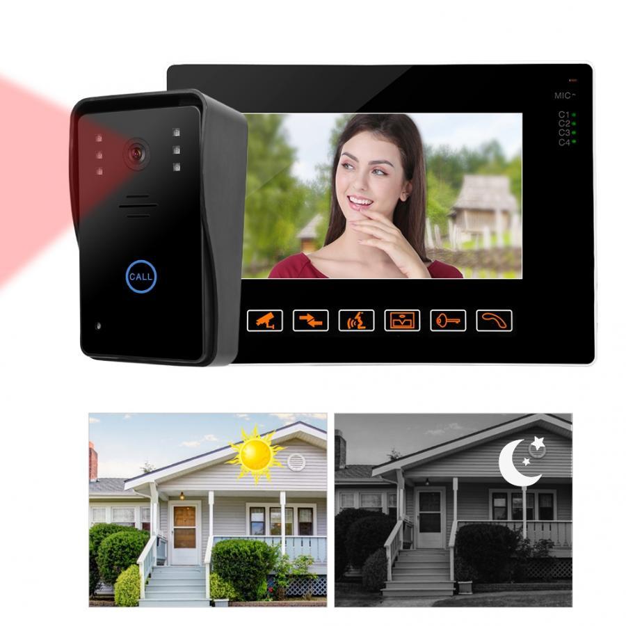 9 Inch HD Video Door Phone Doorbell Intercom Kit 901MJ12 smart waterproof door bell motion sensor bell