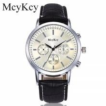 d8d2d12453e McyKcy Marca de Moda Relógio de Quartzo Dos Homens Relógios Top Marca de  Luxo Masculino Relógio