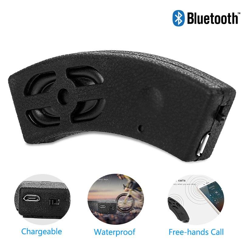 1 pc Schwarz Drahtlose Bluetooth lautsprecher Motorrad fahrrad helme Lautsprecher Mini Subwoofer Outdoor Sporting Audio MP3 Player