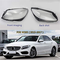 Car Headlight Clear Lens Shell Cover Fit For Mercedes Benz W205 C180 C200 C260L/280/300 2014 2017