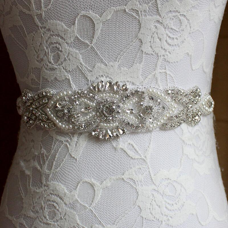 Buy crystal and pearl wedding belt beaded for Pearl belt for wedding dress