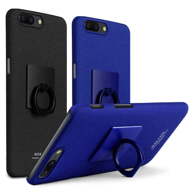 quality design fa3ea b2a78 US $7.76  Oneplus 5 IMAK Frosted Cowboy Quicksand Hard Back Cover Case For  OnePlus 5 Oneplus Five 1+5 A5000 With Finger Ring Holder IN01-in ...
