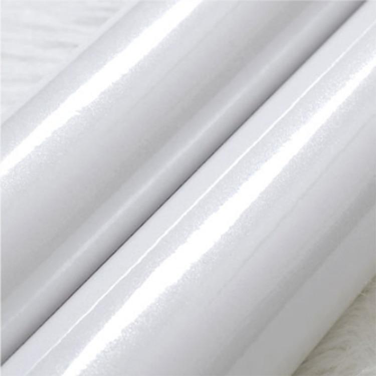 High Gloss Pearl Glittery White Kitchen