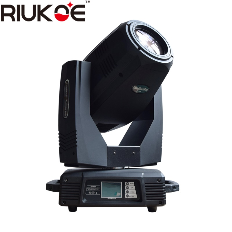 RIUKOE Professional Dj Concert Lighting Sky Beam Moving Head 17R Bulb 3in1 Sharpy 350w Beam Light