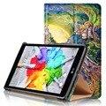 Для LG G PAD X 8.0 V521WG/G PAD 3 8.0 V525 8 дюймов Tablet Ultra Slim Flip Стенд Печати Цветок PU Кожаный Магнитный Чехол крышка