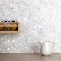 Natural shell mosaic tiles simple modern bathroom porch aisle decorative art television background cabinet kitchen wall