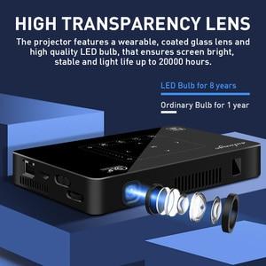 Image 4 - Salange P10 Mini Projektor für Handy Led Mobile Projetor Android WIFI Bluetooth 8000 mAH Batterie HDMI in Tragbare Beamer