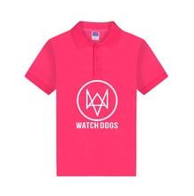 ALIZAZA  Watch Dogs 2 Funny Games Polo Shirt Men Women Cotton Fashion Casual Clothing Polo