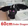 Alta calidad 60 cm Minecraft Ender dragón felpa Minecraft juguetes enderdragon algodón PP de peluche Minecraft dragón juguetes de los niños