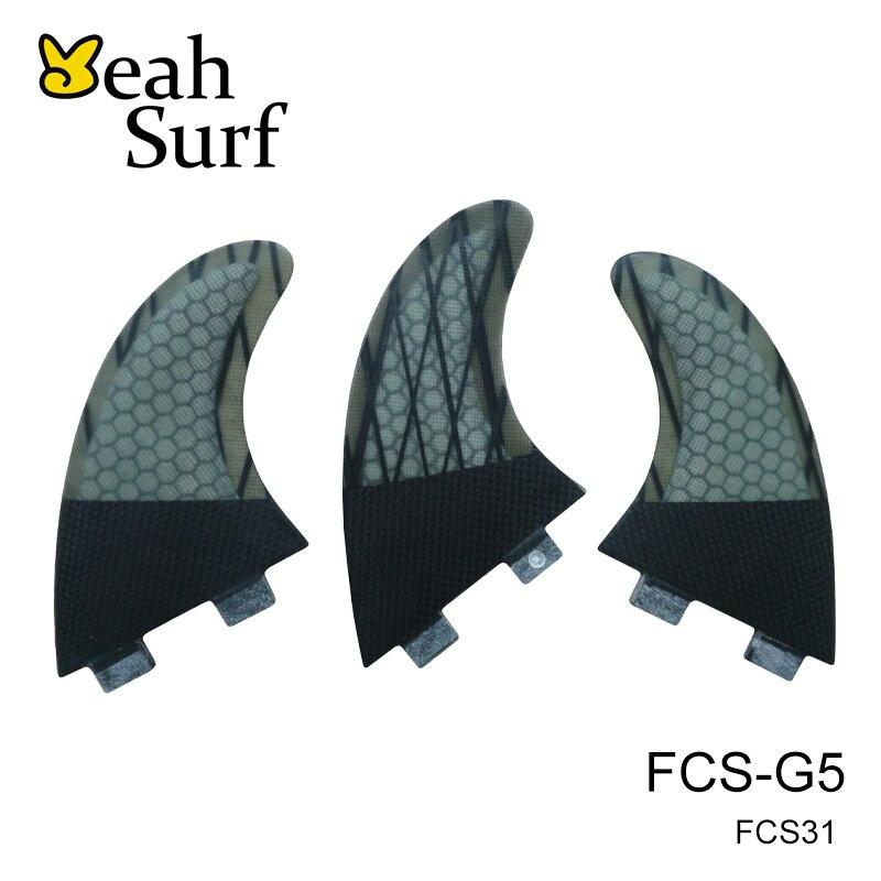 ФОТО FCS Quilhas G5 Carbon Fibre Honeycomb Fins Surfboard Fin Tri Set Surf Fin