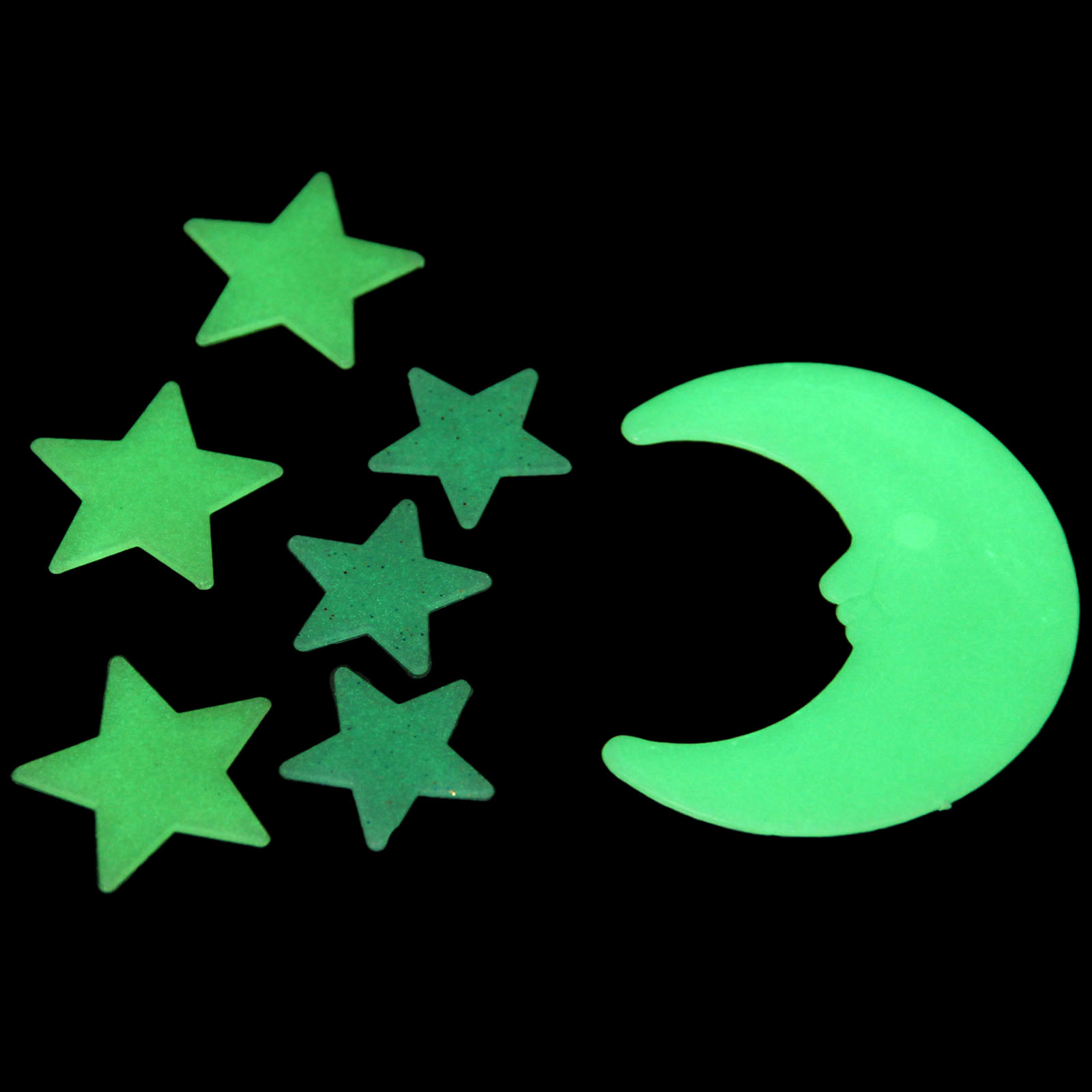 Luminous Moon Stars Wall Stickers,DIY Night Light Glow in ...