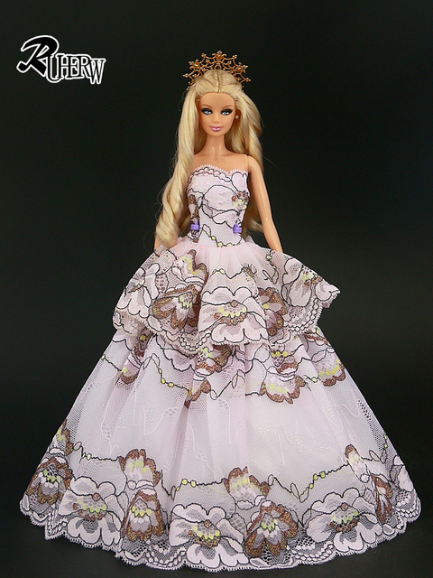 2018 New Handmake Wedding Dress  high quality  Clothing  For Barbie doll  15 style dress  available