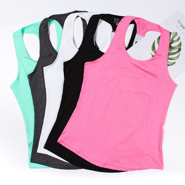0d919c91 Fitness Women Sport Shirt Women Sleeveless Yoga Top Running Shirt Tank Tops  Vest Fitness Women's Sports Shirt Fitness Clothing-in Yoga Shirts from  Sports ...