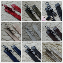 2 Pcs/lot Long Plastic Resin Ykk Zipper Black Coffee Blue Off White Red green Double Open Two-way Fasteners Sewing Accessories