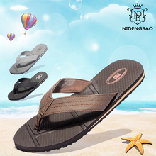 NIDENGBAO Flip Flops Men Summer Beach Sandals Big Size 40-48 Black Man Shoes Non-slip Slippers zapatos de hombre chaussure цена