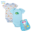 Nueva Moda Ropa de Bebé Baby Girl Conjuntos Body + Baberos Impermeables Recién Nacido Primavera Verano del bebé Ropa de Niña