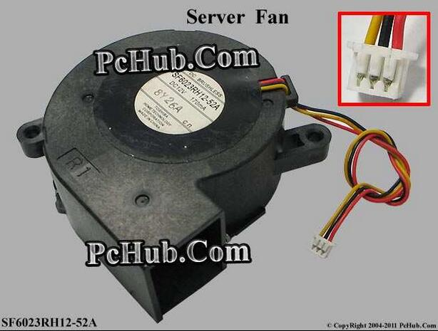 90%NEW Free Shipping For SF6023RH12-52A Server Blower Fan DC 12V 170mA, 60x60x25mm 3-wire 3-pin Projector TDP-EX20U fan ripani 6023 mm rip 00004 ecru