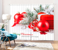 Sweetly Christmas 3D Blackout Curtains Healthy Non Pollution Digital Print Happy Day Bedding Room Living Room