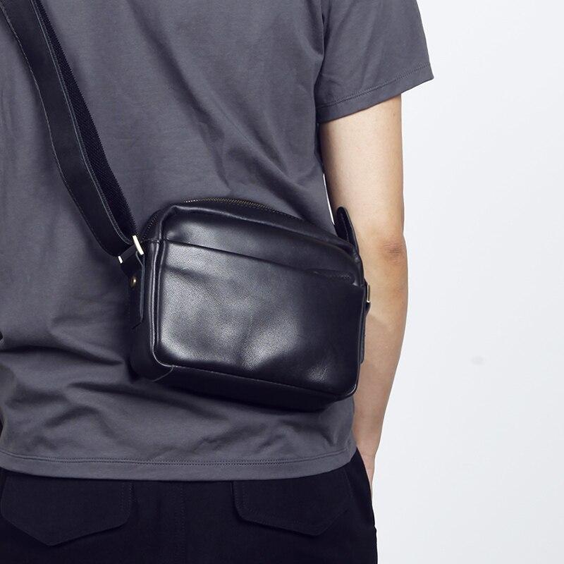 LANSPACE sac bandoulière homme cuir véritable petit sac besace homme