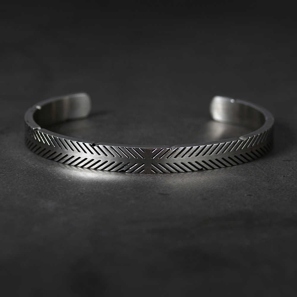 DLNCTD Silver Plated Magnetic Bracelets Bangles for Women Viking Cuff Bangle Bracelet Men Life Tree Engraved Jewelry,Antique Silver,United Kingdom