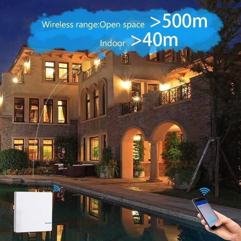 Smernit беспроводной переключатель 220 В Smart настенный Wi-Fi адаптер дистанционное управление свет Настенные переключатели водонепроница