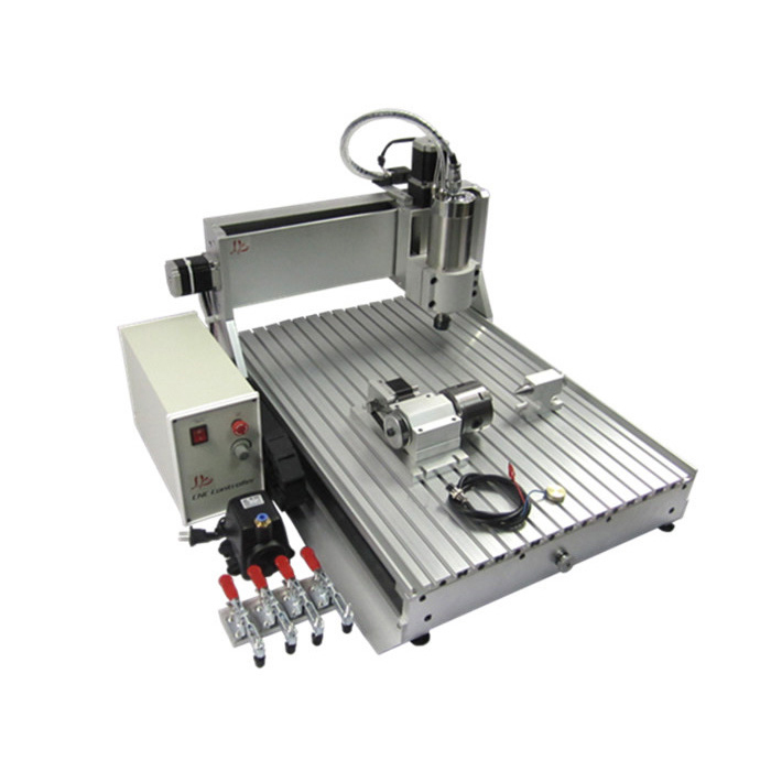 CNC Router 6040Z-VFD2.2KW  4axis Wood lathe cutting machine  with mach3 remote control for woodworking richauto a18 dsp 4 axis linkage motion control system for cnc router machine