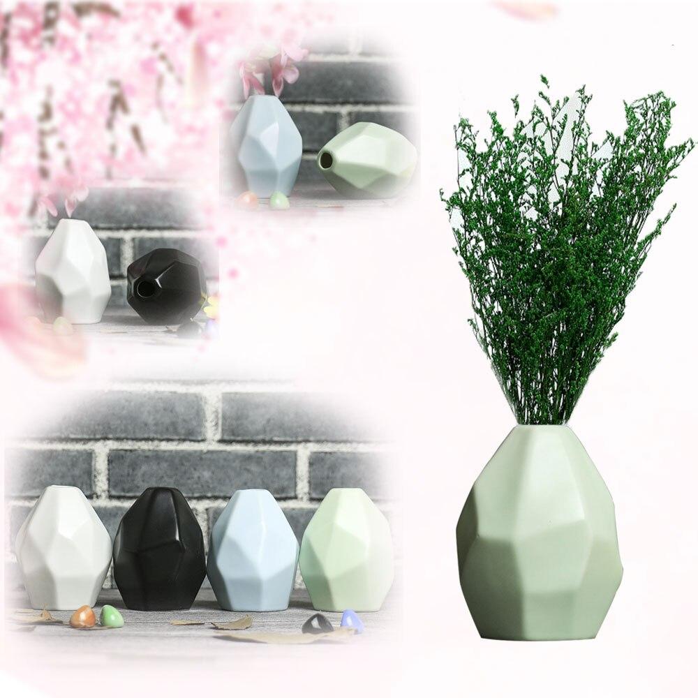 1 Stück Europa Keramik Vase Hause Garten Raute Muster Keramik Keramik Blumentopf Mini Vase Hochzeit Decor Garten Pflanze Dekoration Mit Einem LangjäHrigen Ruf