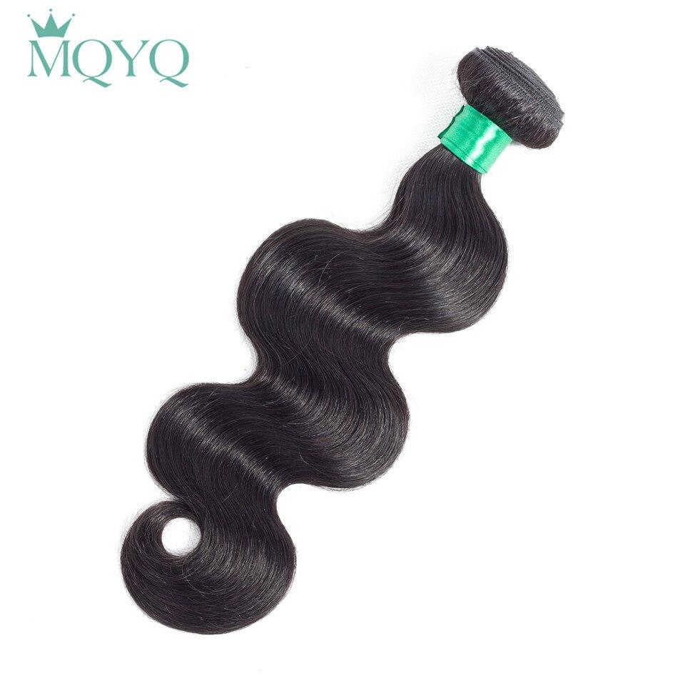 Mqyq Средства ухода за кожей волны волос 100% человеческих Синтетические волосы соткут 1 шт. связки (bundle) не Волосы Remy утка 8-26 дюймов натуральный ... ...