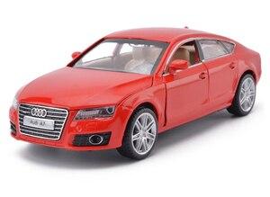 Image 2 - Hoge Simulatie 1:32 AUDI A7 Coupe Legering Model Auto Speelgoed Voertuigen Met Pull Back Voor Kinderen Kerstcadeaus Speelgoed Collectie