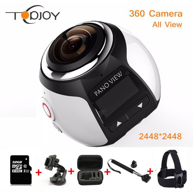 360 Wi-fi Câmera de Vídeo Mini Câmera de 360 Ação 2448*2448 Ultra HD Câmera Panorama de 360 Graus 220*360 Câmera de Ação esporte de Condução
