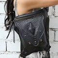 Mestre de aço steampunk feminino perna saco Do Mensageiro saco de ombro 2016 novos produtos de verão homens e mulheres casuais saco da cintura