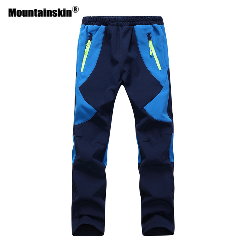 Mountainskin Kids' Winter Fleece Softshell Pants Boy's Girl's Outdoor Windproof Hiking Camping Trekking Skiing Trousers VC025