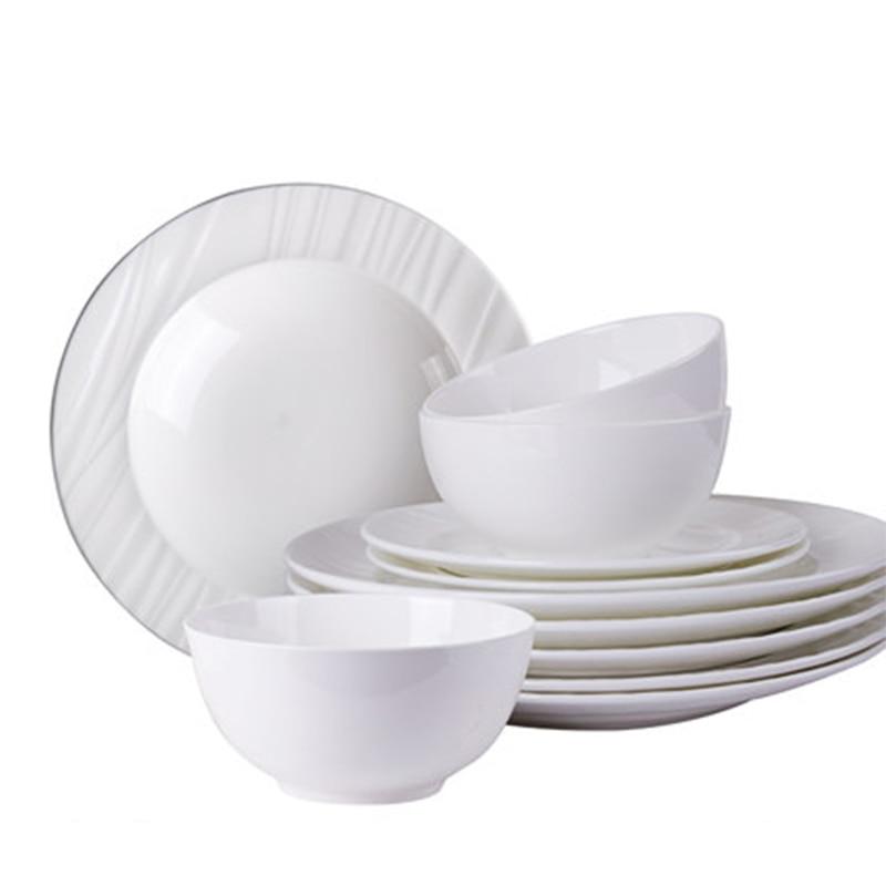 Dishes Set Household Minimalist Nordic Tableware Chinese Phnom Penh Cutlery Set Bone China Dinnerware Set serveware