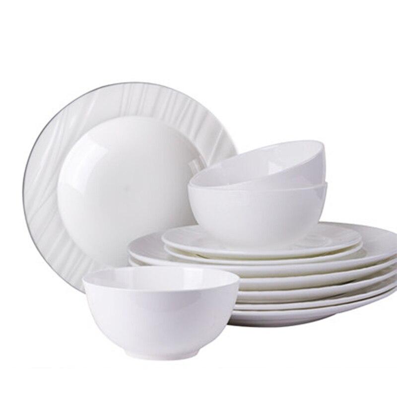 Dishes Set Household Minimalist Nordic Tableware Chinese Phnom Penh Cutlery Set Bone China Dinnerware Set
