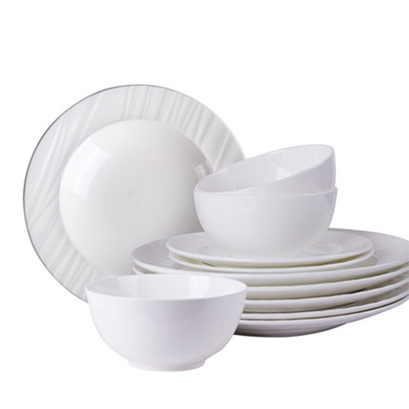 Dishes Set Household Minimalist Nordic Tableware Chinese Phnom Penh Cutlery Set Bone China Dinnerware Set