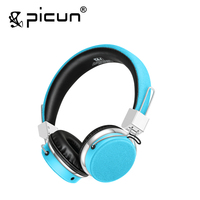 Picun C6 Stereo Headphones Earphone With Mic Best Bass Foldable Headset For IPhone 6s PC Mp4