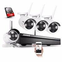 ANNKE 4CH 960P Wireless NVR Kit 1 3MP CCTV Security WIFI IP Camera 960P Video Recorder