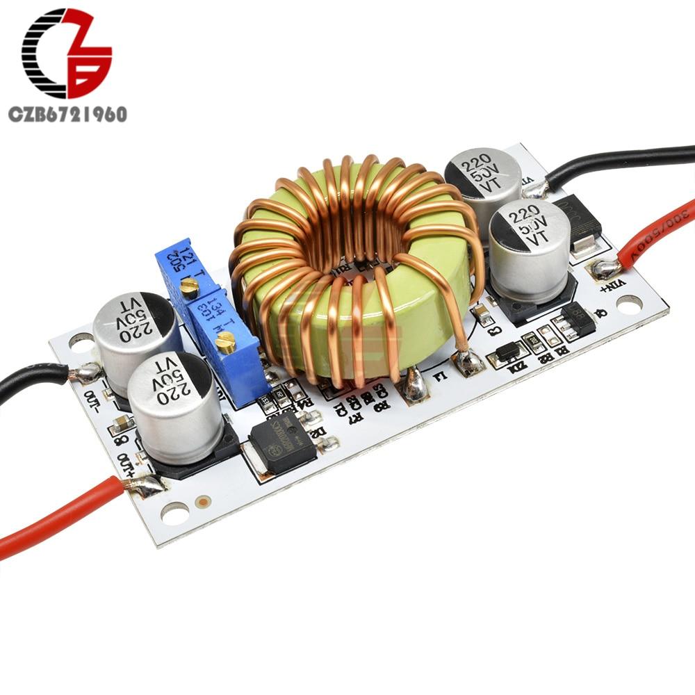 250W 10A 8,5-48V DC-DC Step Up повышающий преобразователь постоянного тока модуля Напряжение регулятор Питание трансформатор усилителя для автомобиля ...