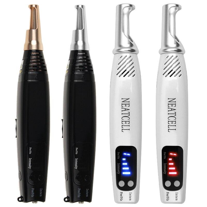 Portable Mini Red Blue Light Laser Picosecond Pen Black Tattoo Removal Acne Scar Mole Freckle Dark Spot Black Pigment Removal