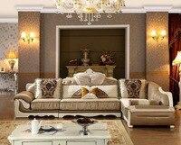 2016 погремушка шезлонг Стиль комплект без Bolsa Muebles современный Дизайн кожаный диван новый Гостиная большой Размеры диван, 6 места диван, новин