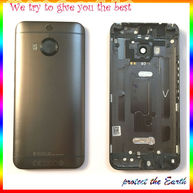 New For HTC One M9+ M9 Plus Back Cover Battery Door Housing Case For HTC One M9+ Repair Parts with Logo + track number