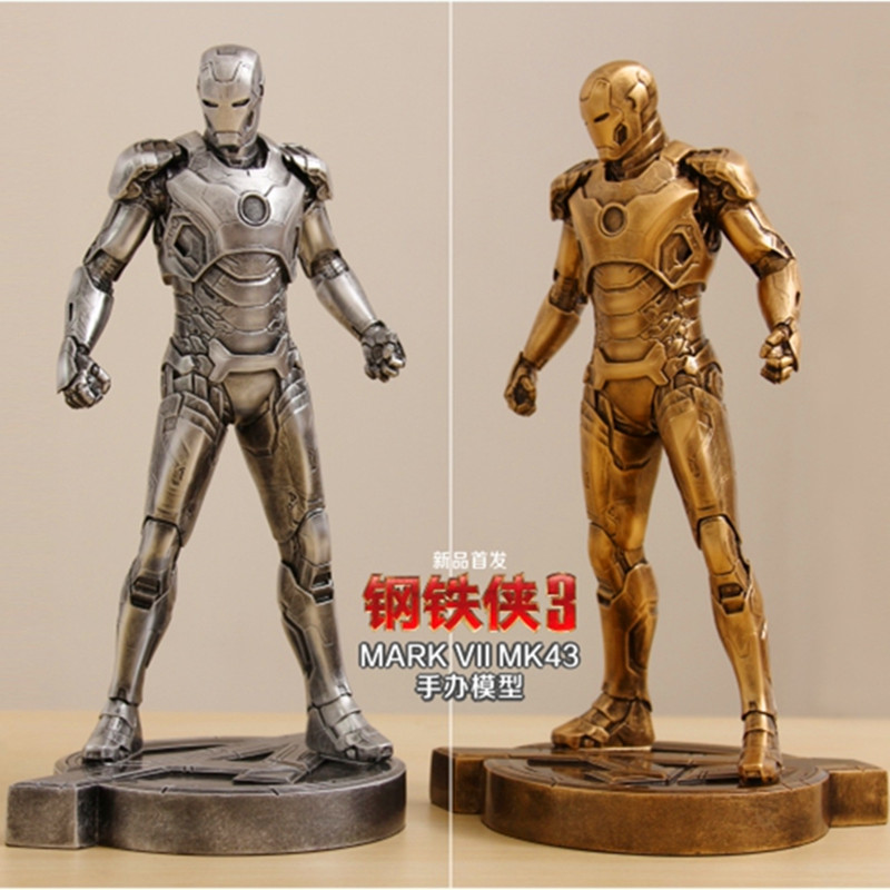 Iron Man1:6 MK43 Imitation Ferrum Or Copper Resin Bust Model MK43 Decoration Statue MARK VII Half-Length Photo Or Portrait WU598 ems hellboy statue anung un rama bust imitation copper half length photo or portrait resin action figure collectible model toy