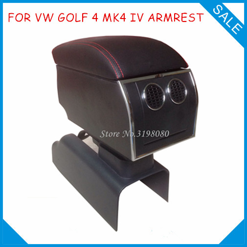FOR Volkswage VW GOLF 4 MK4 IV 8pcs USB Armrest,All-IN-ONE Car center arm rest console box with hidden cup holder Accessories universal leather car armrest central store content storage box with cup holder center console armrests free shipping