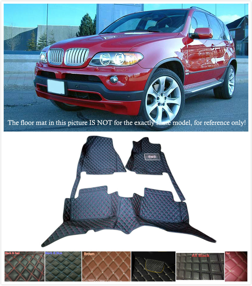Customs Leather Car Floor mat Waterproof Front & Rear Floor Mats Carpets Pads for BMW X5 E70 2004 2005 2006 5 Seats customs 5 seats 1 set car floor mat leather waterproof front