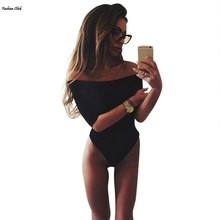 Slash Neck Off Shoulder Jumpsuit Bodysuit Clubwear