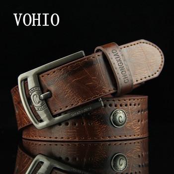 VOHIO 2017 デザイナーベルト男性の中空リベット ceinture オムパンクカウボーイカジュアルハンベルト高ファッション品質メンズベルトジーンズ