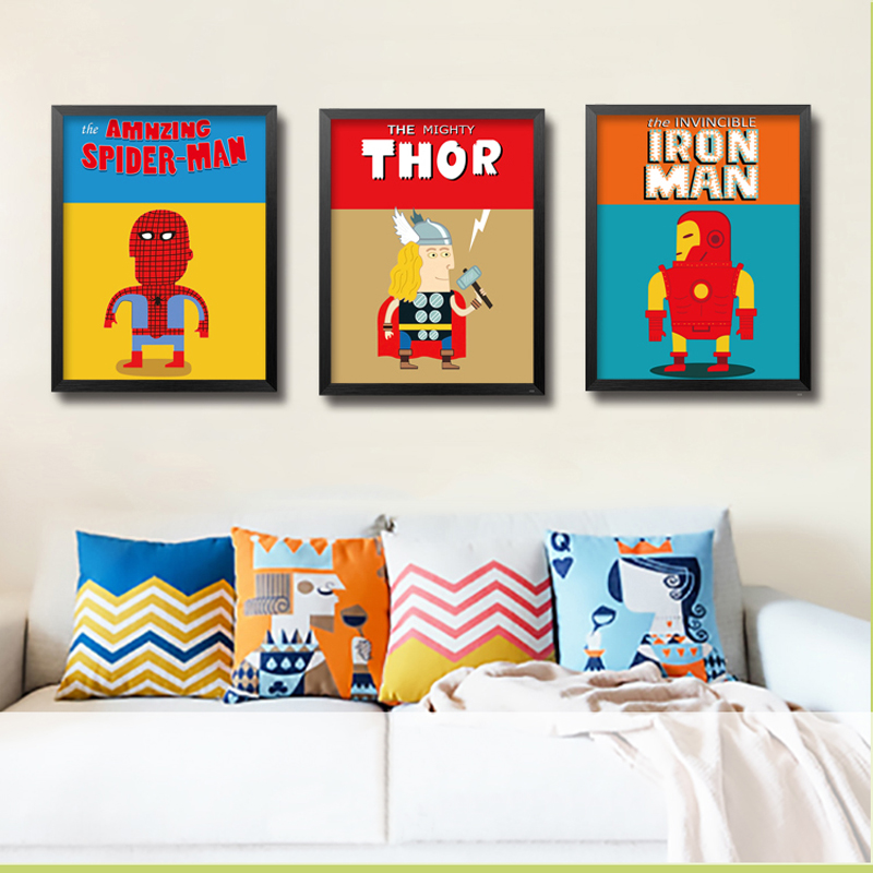 ⓪The Avengers Wall Picture Movie Poster Canvas Wall Art Oil ...