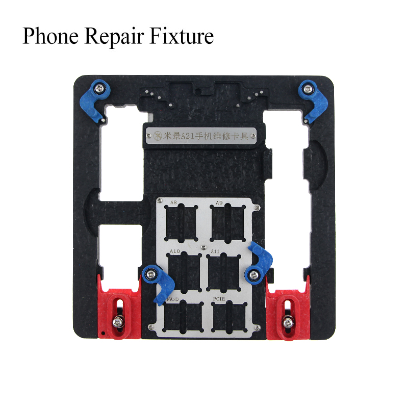 UANME Multi Mobile Phone Repair Board PCB Holder For iPhone 8 8plus 7 6 6s Plus 5S For A7 A8 A9 A10 Logic Board Chip Fixture smart phone repair power charger line wire cable for iphone 4 4s 5 5s 6 6 plus battery activator repairing tools
