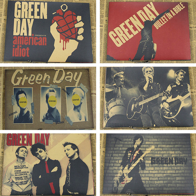 green day punk rocks poster band decorative paintings /wall sticker